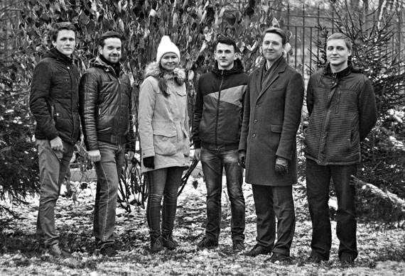 Команда молодых учёных: Константин Ларионов, Дмитрий Квашнин, Екатерина Суханова,  Алмаз Хабибрахманов,  Павел Сорокин,  Сергей Ерохин